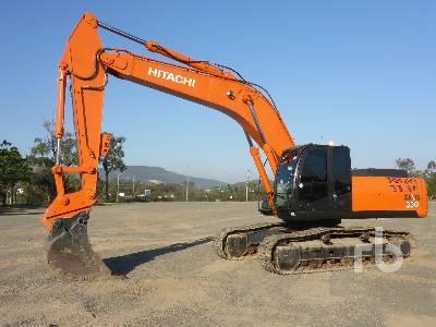 Hitachi EX220-5 Hydraulic Excavator Specs & Dimensions
