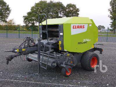 2017 CLAAS ROLLANT 374RC Round Baler