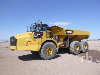Caterpillar 740B Articulated Dump Truck Specs & Dimensions