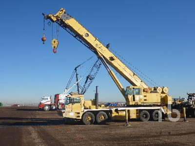 1993 GROVE TMS875B 75 Ton 8x4x4 Hydraulic Truck Crane