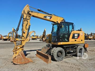 2017 CATERPILLAR M314F 4x4 Mobile Excavator