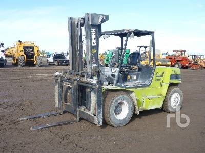 2012 CLARK C70D 15500 Lb Forklift