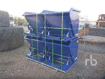 Unused Qty Of (4) 1 CY Self Dumping Hopper Container Equipment - Other