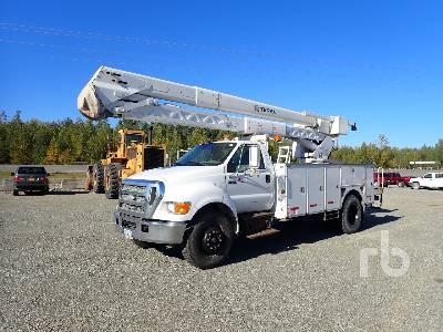 2007 FORD F750 w/Terex HRX55 Bucket Truck