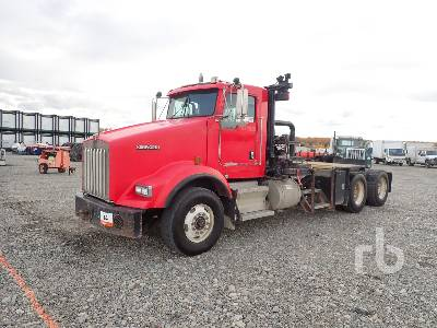 2007 KENWORTH T800B Day Cab T/A Winch Tractor