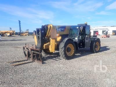 2012 CATERPILLAR TL1055C 10000 Lb 4x4x4 Telescopic Forklift