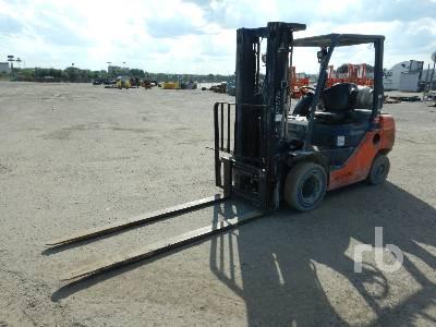 2013 TOYOTA 8FGU25 4800 Lb Forklift