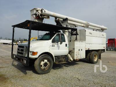 2010 FORD F750 S/A w/Altec LRV55 Tree Trimmer Truck