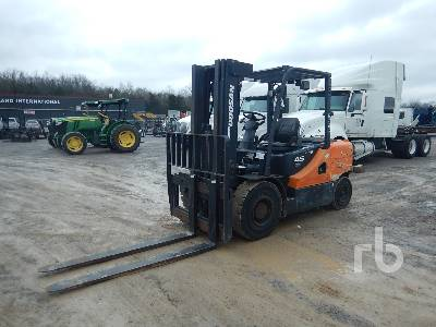2012 DOOSAN D45S-5 INOPERABLE 8700 Lb Forklift