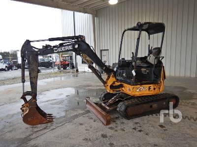 2014 JOHN DEERE 27D Mini Excavator (1 - 4.9 Tons)