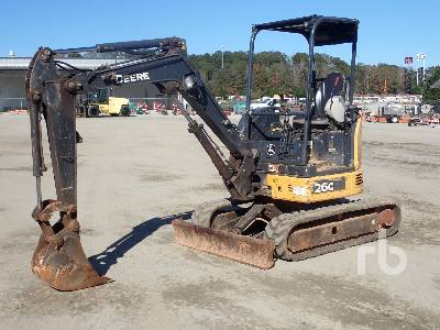 2015 JOHN DEERE 26G Mini Excavator (1 - 4.9 Tons)