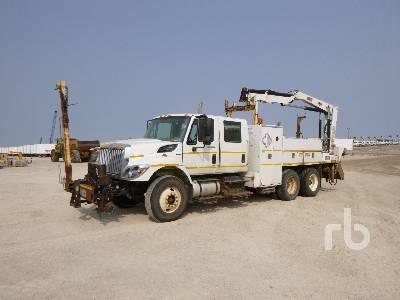 2009 INTERNATIONAL 7400 Crew Cab T/A w/IMT 5200R 5200 Lb Boom Truck