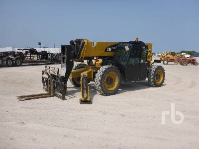2014 CATERPILLAR TL1055C 10000 Lb 4x4x4 Telescopic Forklift