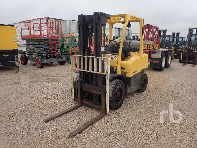 2008 HYSTER H80FT 8000 Lb RIDE ON Forklift