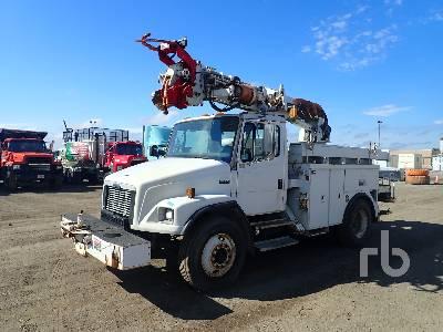 2003 FREIGHTLINER FL80 S/A w/Altec D845AB Digger Derrick Truck