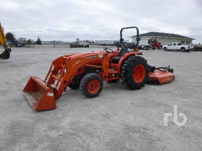 2014 KUBOTA L4600D HST MFWD Utility Tractor