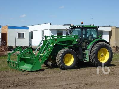 2014 JOHN DEERE 6150R MFWD Tractor