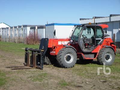 2009 MANITOU MHT860L E3 13000 Lb 4x4x4 Telescopic Forklift