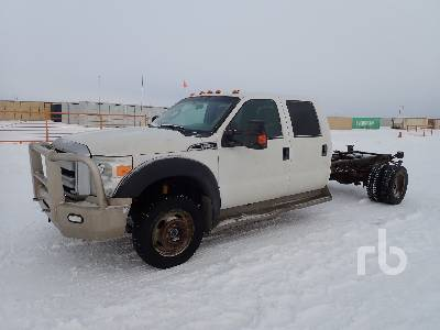 2012 FORD F550 XLT Crew Cab 4x4 Cab & Chassis