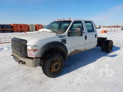 2009 FORD F550 XL Crew Cab 4x4 Cab & Chassis
