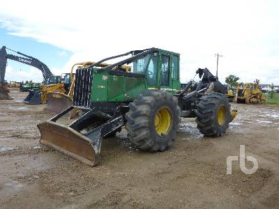2006 JOHN DEERE 748G III Rubber-Tired 4x4 Grapple Skidder