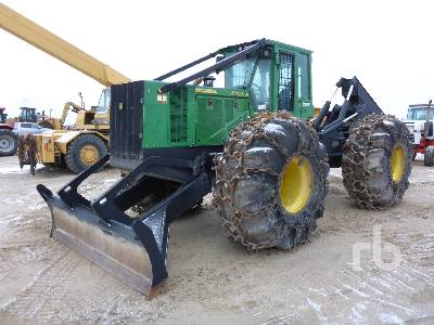 2014 JOHN DEERE 848H 4x4 Grapple Skidder