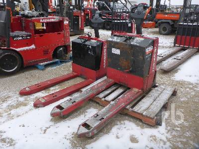 RAYMOND 102TF45L Qty Of 2 4500 Lb Electric Pallet Jack