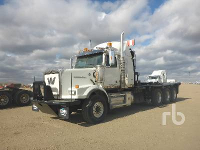 2011 WESTERN STAR 4900SA Tri Drive Sleeper Texas Bed Winch Tractor
