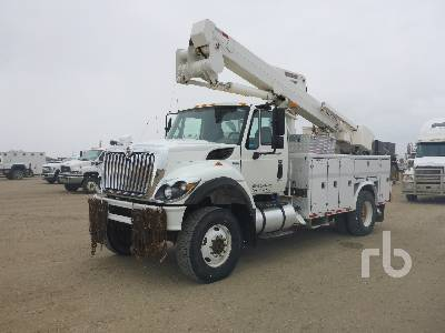 2009 INTERNATIONAL 7400 Workstar 4x4 w/Terex Hi-Ranger TL45 Bucket Truck
