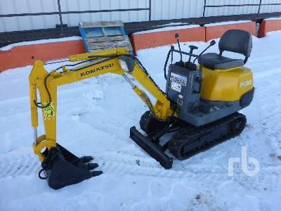 KOMATSU PC02-1A Mini Excavator (1 - 4.9 Tons)
