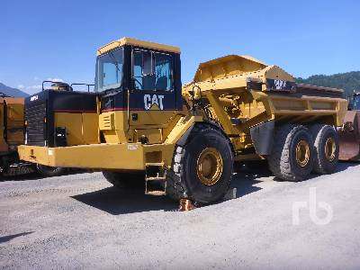 2000 CATERPILLAR D400E Series II Ejector Articulated Dump Truck