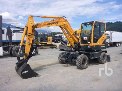 2018 HYUNDAI ROBEX R55W-9A 4x4 Mobile Excavator