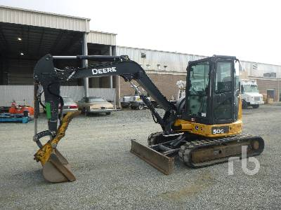 2014 JOHN DEERE 50D Midi Excavator (5 - 9.9 Tons)
