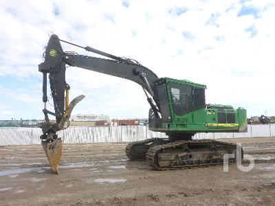 2014 JOHN DEERE 2454D Road Builder Hydraulic Excavator