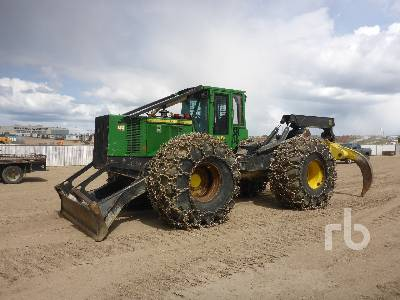 2010 JOHN DEERE 748H Grapple Skidder