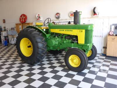 1959 JOHN DEERE 730 Gas Standard Restored 2WD Antique Tractor