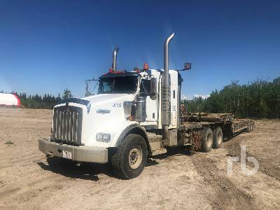 2007 KENWORTH T800B T/A Sleeper Winch Tractor