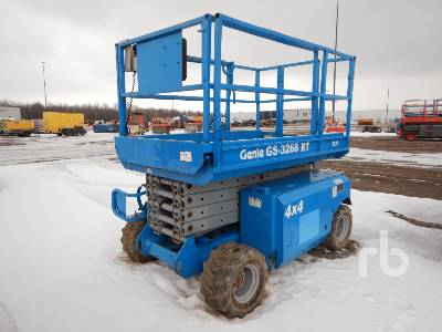2000 GENIE GS3268RT 32 Ft Rough Terrain Scissorlift