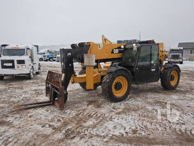 2013 CATERPILLAR TL1055C 10000 Lb 4x4x4 Telescopic Forklift