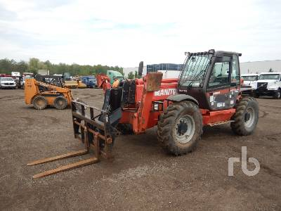 2008 MANITOU MT1745 9900 Lb 4x4x4 Telescopic Forklift