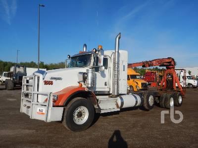 2011 KENWORTH T800 Sleeper Log Truck