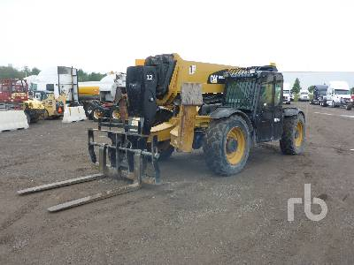 2013 CATERPILLAR TL1255C 12000 Lb 4x4x4 Telescopic Forklift