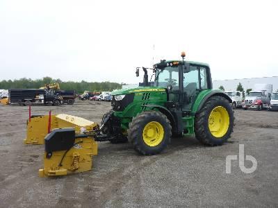 2015 JOHN DEERE 6125M MFWD Tractor