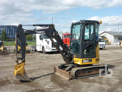 2016 JOHN DEERE 26G Mini Excavator (1 - 4.9 Tons)
