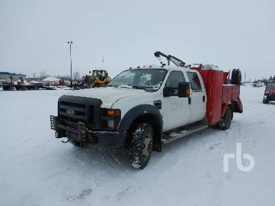 2008 FORD F550 Crew Cab 4x4 Utility Truck