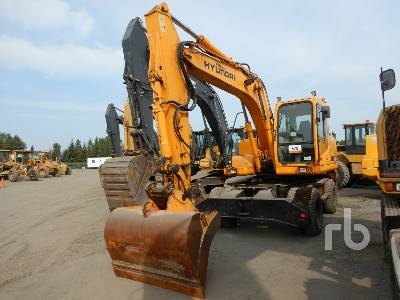 2007 HYUNDAI ROBEX 140W-7 4x4 Mobile Excavator