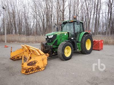 2014 JOHN DEERE 6105ML MFWD Tractor