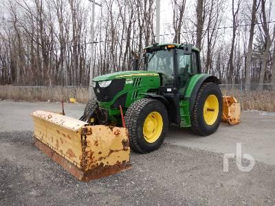 2013 JOHN DEERE 6150M MFWD Tractor
