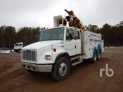 2001 FREIGHTLINER FL80 Extended Cab T/A w/Terex L4042 Bucket Truck