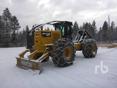 2015 CATERPILLAR 555D Rubber-Tired Grapple Skidder